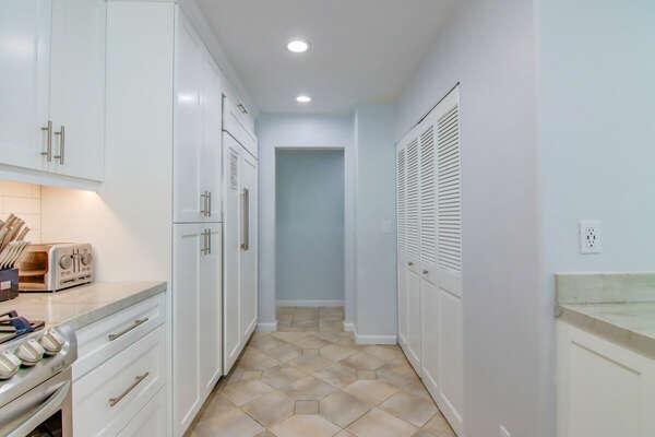 Kitchen and Washer/Dryer (in Closet) - Third Floor