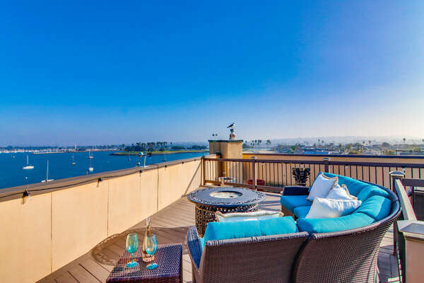 Expansive Roof Deck with 360 Views