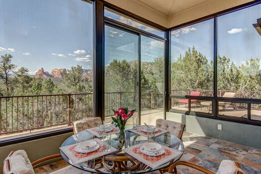 Enjoy the Views from Inside the Sun Room or on the Deck