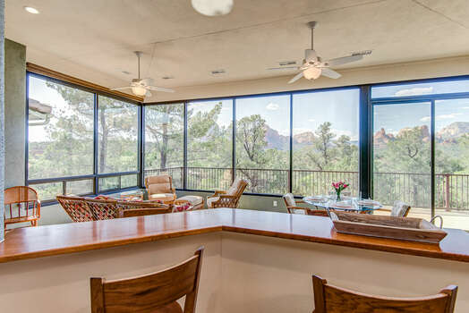Enjoy the View from the Kitchen or Sun Room
