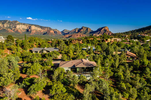 Nestled Amongst the Mature Trees and Red Rock Vistas