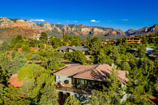Uptown Sedona Home Surrounded by Stunning Red Rock Vistas