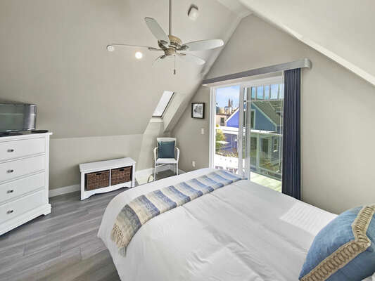 Guest Bedroom with Queen Bed and Balcony