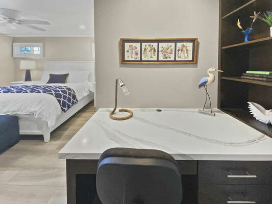 Master Suite with Workspace Desk