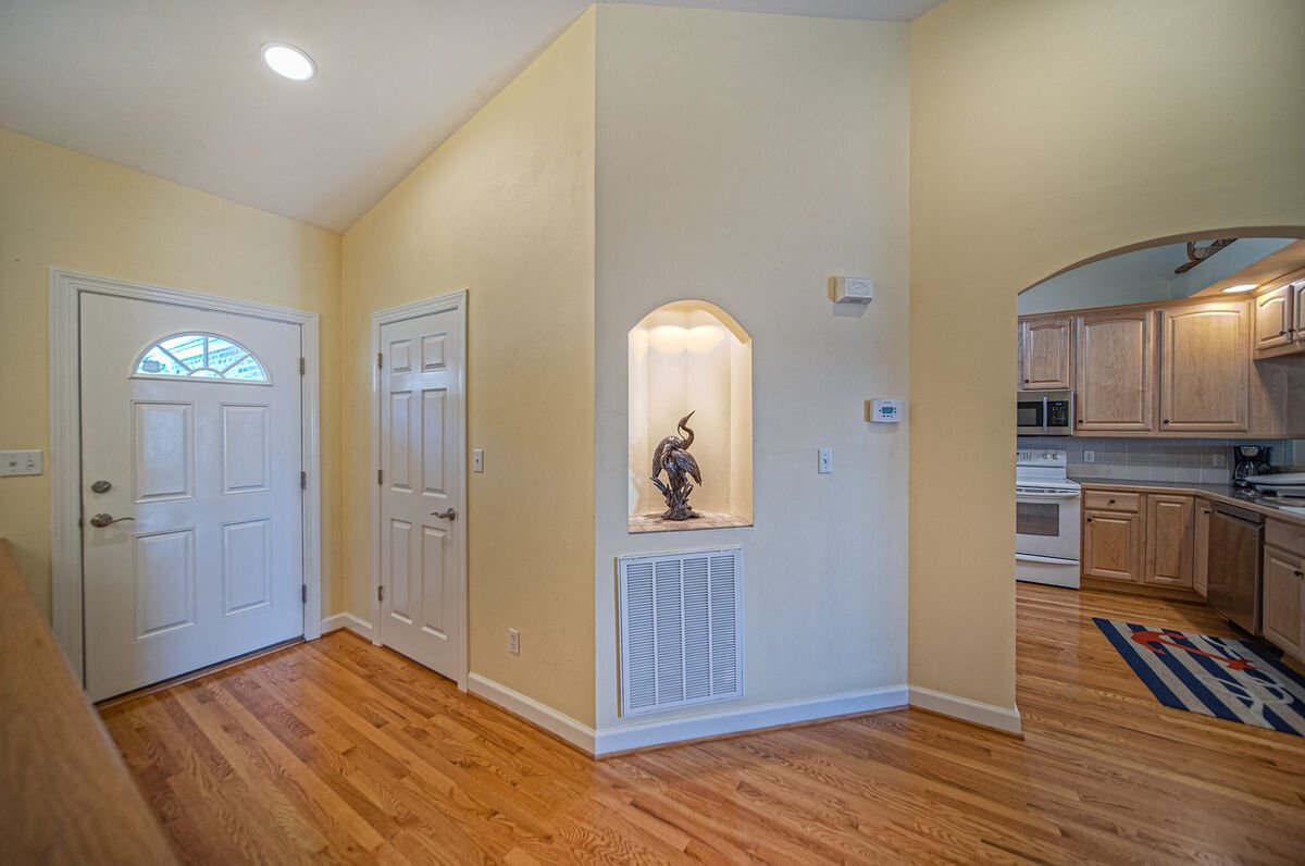 Entryway of this lakefront home  in Smith Mountain Lake.