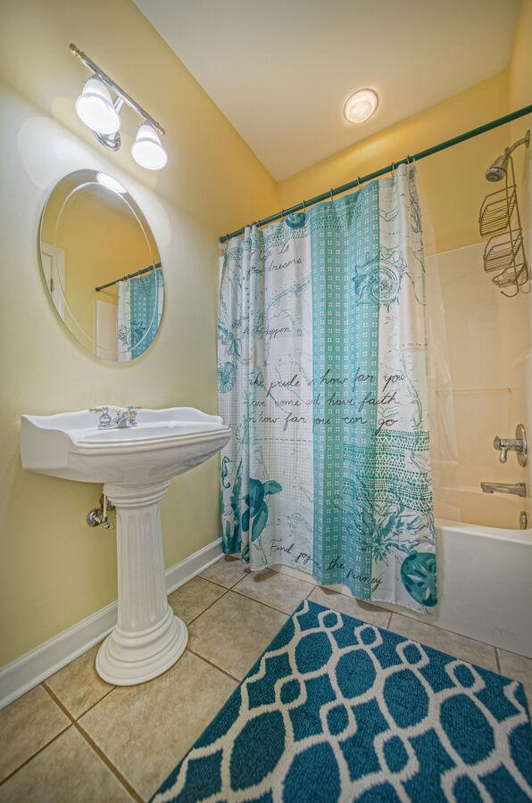 Master EnSuite bathroom with vanity sink and shower.
