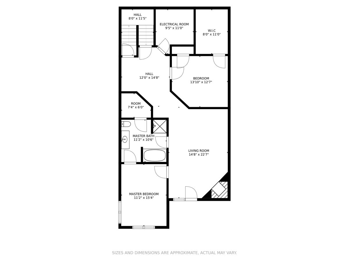Floor plan of another floor of this lakefront home  in Smith Mountain Lake.