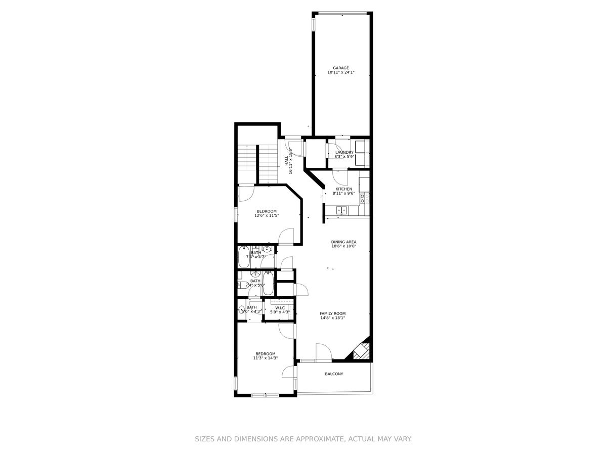 Floor plan of this lakefront home  in Smith Mountain Lake.
