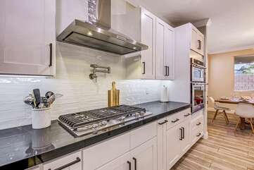 The gourmet kitchen is sure to impress!