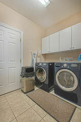 Main Level Washer and Dryer in the laundry area.