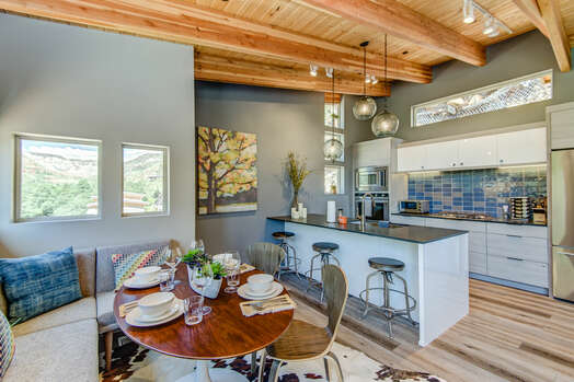 Dining Area and Gourmet Kitchen
