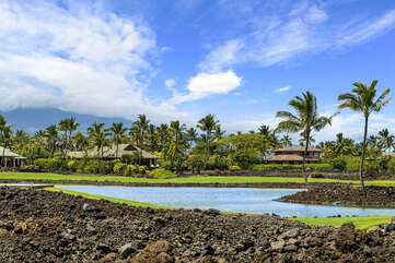 View of the Mauna Lani Point Pond