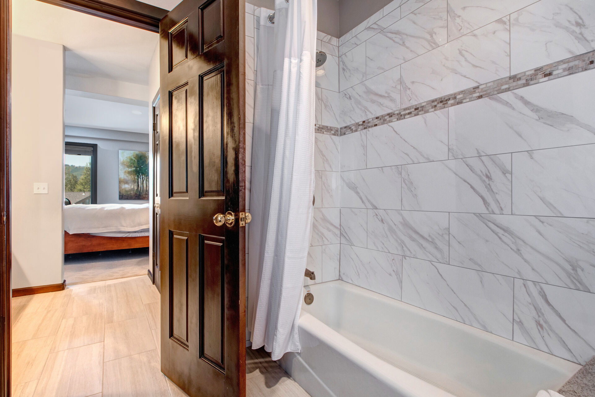 Master Bath 2 with Dual Stone Counter Sinks and a Separate Tub/Shower
