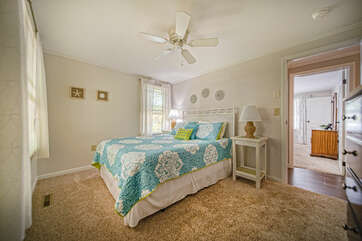 Main Level bedroom with Queen bed.