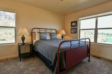Master Bedroom- queen sized bed
