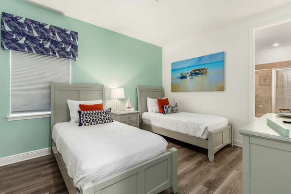 Sleep soundly in this upstairs bedroom