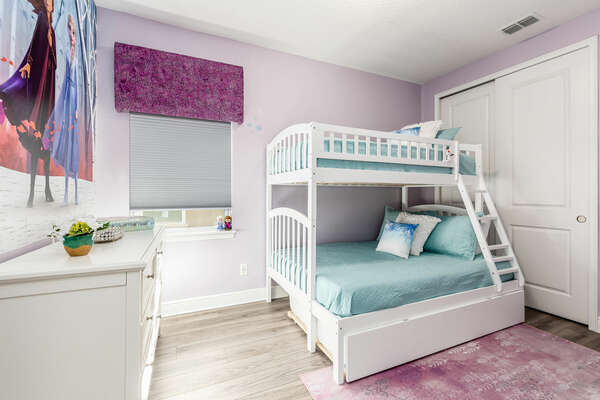 Princesses will enjoy their fairytale bedroom