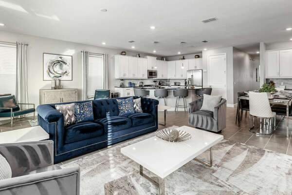 Spacious living area is great for family gatherings