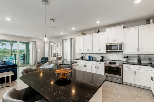 With stainless steel appliances and plenty of counter space, creating gourmet meals will be a breeze