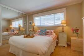 Very comfortable queen bed with crisp, white linens.