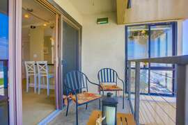 Patio where you can watch the sunset or wake up early and enjoy the  cool morning breezes.