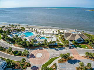Club's oceanfront pools.