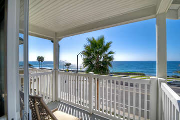 Ocean views from the master bedroom with private deck.