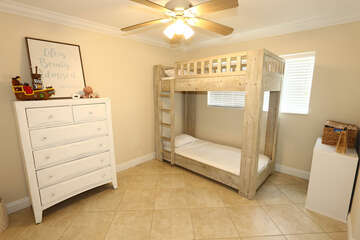 Guest bedroom 2, twin bunk beds