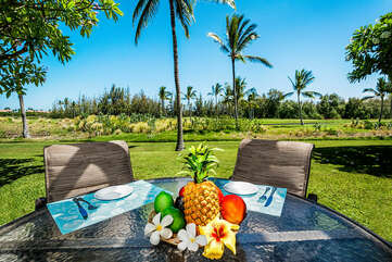 Table Setting at the Outdoor Dining Area on the Private Lanai