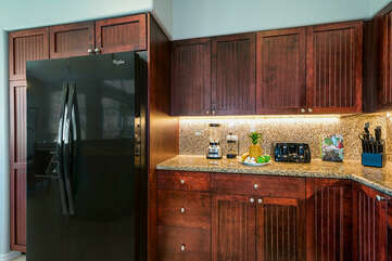 Fully Equipped Kitchen with Large Fridge at Waikoloa Fairways Rental