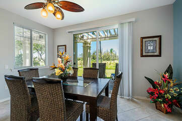 Inside dining area also with easy lanai access