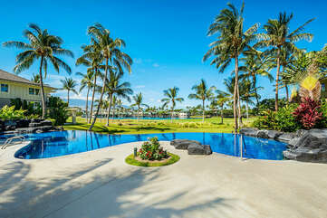 Pool with Expansive Views of the Golf Course and Community
