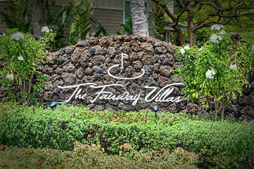 Front Signage for The Fairway Villas in Kona