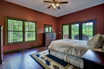 Master Bedroom with TV and Queen Bed
