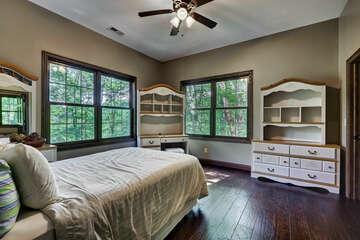 Third Level Guest Bedroom with Queen Bed