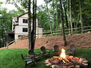Great outdoor fire pit area