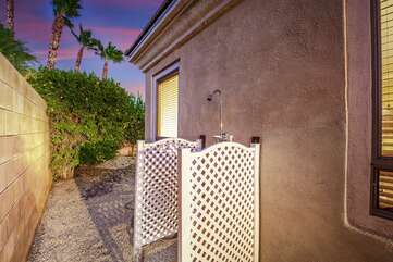 Rinse off the day in the convenient outdoor shower.