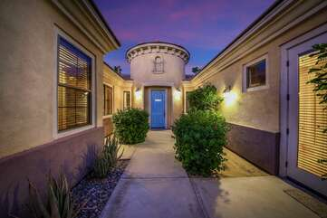 The front courtyard has access to the main entrance and Casita Suite.