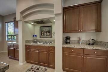 Plenty of counter space to prepare your home made meals.