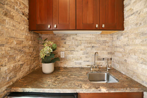 Wet Bar Located on First Floor.