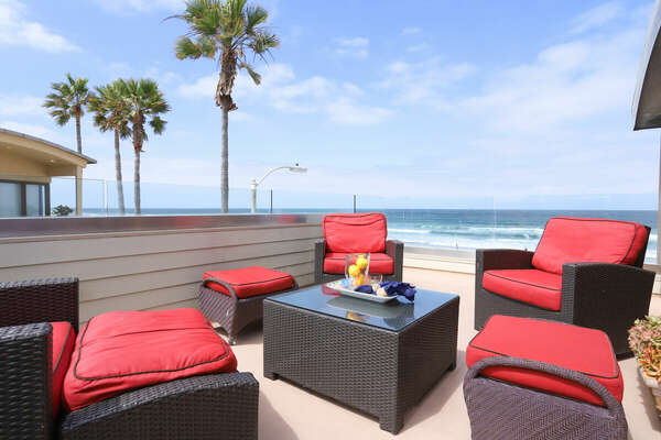 Roof Deck Includes Outdoor Furniture.