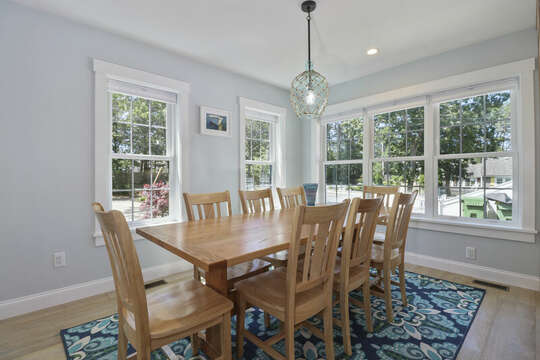 Dining room with ample seating for the whole family.-16 Middleton Drive West Harwich Cape Cod -New England Vacation Rentals