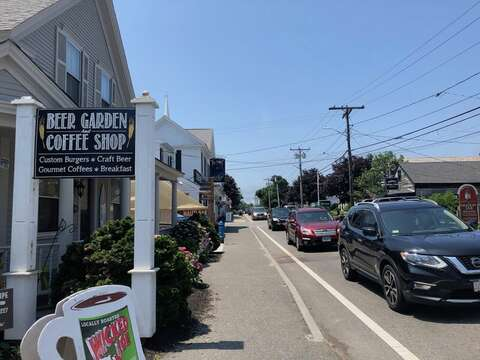 Grab your morning coffee or afternoon drinks at The Beer Garden and Coffee Shop-Downtown Harwich Port- New England Vacation Rentals- Cape Cod
