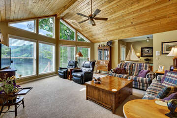 Living Room with a view of Lake Glenville