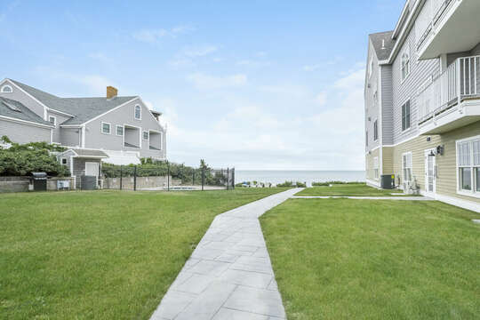 Entrance to building on right - 405 Old Wharf Road-Dennisport Cape Cod- New England Vacation Rentals