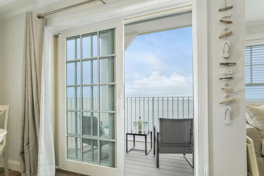 Sliders to balcony over looking the Ocean - 405 Old Wharf Road-Dennisport Cape Cod- New England Vacation Rentals