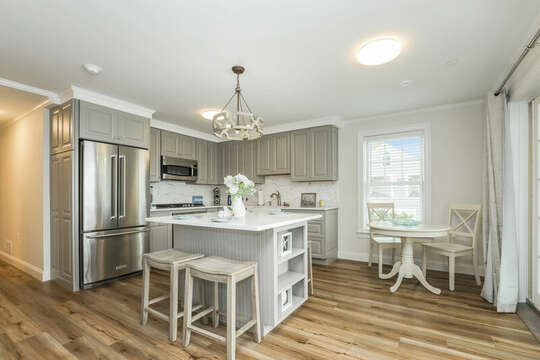 Kitchen with all new stainless appliances - 405 Old Wharf Road-Dennisport Cape Cod- New England Vacation Rentals