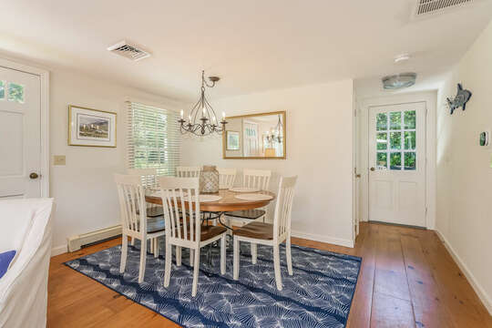 Dining area with seating for 8 -  80 Lienau Dr Chatham Ma - Cape Cod- New England Vacation Rentals