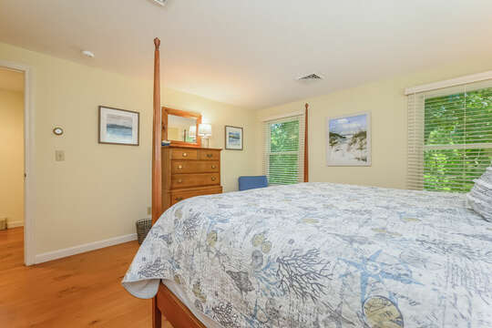 Bedroom # 3 with King bed and dresser- 80 Lienau Dr Chatham Ma - Cape Cod- New England Vacation Rentals