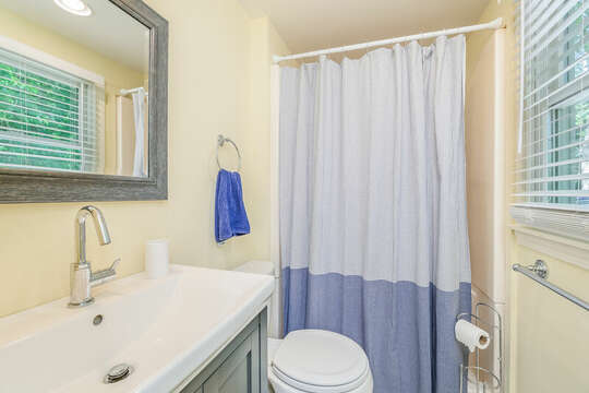 Bathroom #1 Shower only with vanity, toilet-is off the dining/living area 80 Lienau Dr Chatham Ma - Cape Cod- New England Vacation Rentals